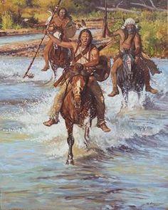 Riding to Honor oil by Steven Lang kK