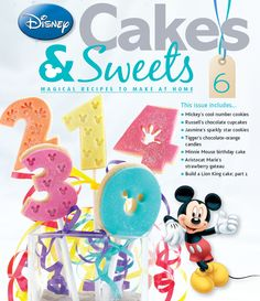 Who's birthday is coming up? Get great numbers cutters in issue 6! #disneycakesandsweets