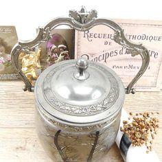 Pot à biscuits  bocal à biscuits  Pot 19e siècle  ancien