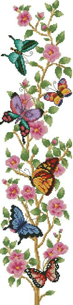 Cross stitch butterfly and chart. Zz