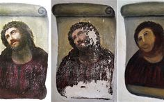 Damaged beyond repair: the 19th-century fresco of Christ in Borja, Spain, after an amateur decided to repaint it