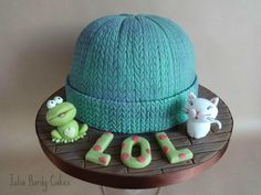 Frog, Cat, Beany Hat! - Cake by Julia Hardy