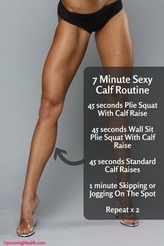 7 Minute Sexy Calf Workout (4 Exercises With Instructions)