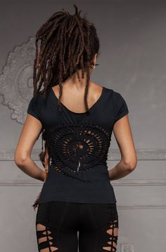 Spiral Braided Top  Handmade Tribal Festival Party  by ShambaWear, £25.00