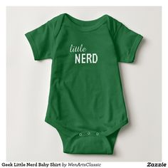 Geek Little Nerd Baby Shirt #gamerbaby #gaming #rpg #gamer