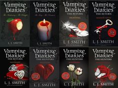 The Vampire Diaries is a young adult vampire, romance and horror series of novels created and written by L. The Vampire Diaries is now a hit television series on The CW. The story centers on Elena Gilbert, a young, beautiful high school girl who The Vampire Diaries, Vampire Diaries Book Series, Vampire Diaries The Originals, I Love Books, Good Books, Books To Read, My Books, Story Books, Book Nerd