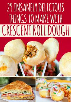 29 Incredibly Easy Things You Can Make With Crescent Roll Dough-I live for crescent rolls Crescent Roll Dough, Crescent Roll Recipes, Crescent Rolls, Crescent Dough Sheet Recipes, Pilsbury Crescent Recipes, Pillsbury Dough, New Recipes, Cooking Recipes, Favorite Recipes