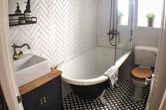 Bertie Black & White Feature Floor Tiles 33x33cm - Tons of Tiles