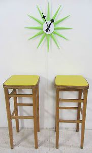 Just like M&D's!! > 2x Vintage Retro 1960s Beech Kitchen Bar Stools Breakfast Bentwood | eBay