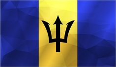 Barbados Flag Trianguled Home Decal Vinyl Sticker 14'' X 8'' *** Want additional info? Click on the image. (This is an affiliate link and I receive a commission for the sales)