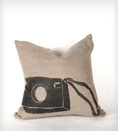 Linen Instamatic Camera Pillow | Home Decor | Sadie & Grace | Scoutmob Shoppe | Product Detail