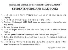 Hogwarts Students' Guide and Rule Book