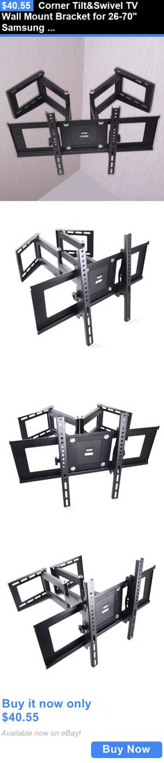 When you have large LED TV in your house, all you require is just take a help of the proper and suitable wall mount to hold back your TV set. Corner Tv Wall Mount, Swivel Tv Wall Mount, Swivel Tv Stand, Tv Wall Mount Bracket, Wall Mounted Tv, Tv Wall Brackets, Home Decor Furniture, New Room, Home Remodeling