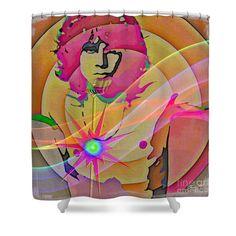 Rock Star Shower Curtain by Eleni Mac Synodinos