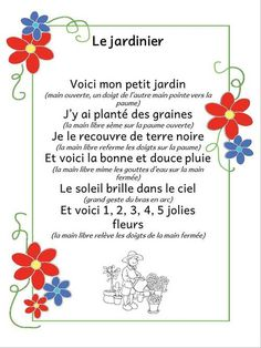Le jardinier - comptine à gestes French Poems, Circle Time Songs, French Nursery, Spring Song, French Teacher, Teaching French, Petite Section, French Language Learning, Teaching Social Studies