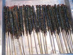 Centipedes at Wangfujing market