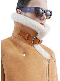 Velocite vintage brown soft shearling jacket in 100% lamb fur #AcneStudios #PF15