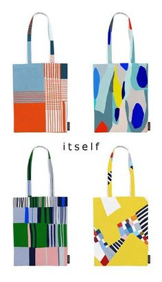Fabric Design, Pattern Design, Painted Bags, Hand Painted, Fabric Bags, Diy Bags, Canvas Tote Bags, Canvas Totes, Fashion Bags