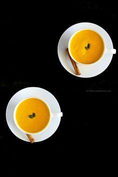 Korean Style Pumpkin Latte (Danhobak Latte) | MyKoreanKitchen.com