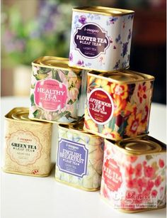 Wedding Gift Ideas English : English Vintage Tea Storage tin box/ Iron Cases/ Wedding Favor Gift ...