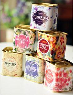 Wedding Gift Ideas English : English Vintage Tea Storage tin box/ Iron Cases/ Wedding Favor Gift ...