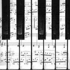 I think a piano would look awesome with these keys