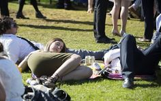 A group of friends were seen sleeping in the sun at Flemington Racecourse for Emirates Stakes Day on Saturday Melbourne Cup, Stakes Day, Flemington Racecourse, Final Days, Group Of Friends, Finals, Sleep, Sun, Final Exams