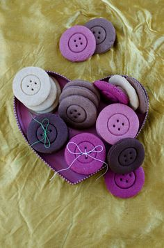 Colorful button cookies. These do look like buttons. Everyone will be surprised when you bite a button! Perfect for bridal showers or baby showers! | giverecipe.com | #cookies #buttons #celebration #babyshower