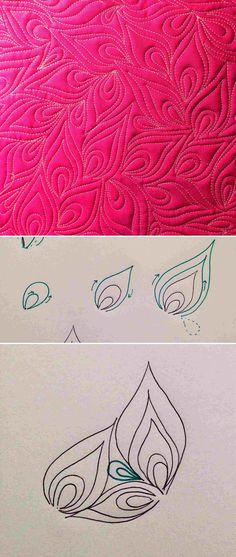 Christina Cameli's teardrop/flame quilt fill pattern – Absteppung bei einer Jacke?