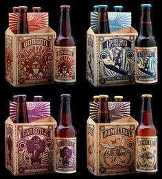 Ballistic Brewing Craft Beer featured on Litterini & Clark. Packaging design by Stranger & Stranger