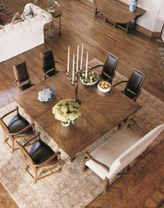 Square table for eight Century Classics Square-To-Square Dining Table - 649-305