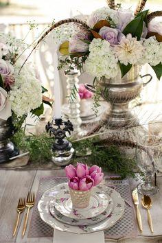 Shabby Chic Wedding #PlaceSetting - Love the Feather Accents I Flora Fetish LLC. I http://www.weddingwire.com/biz/flora-fetish-llc-austin/portfolio/41aa20526a6d572e.html?subtab=album&albumId=6cc3da261b628d9a