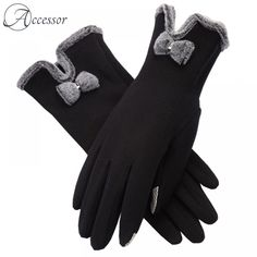 The right pair of gloves can make all the difference between a stunning appearance and a boring one. These bow gloves will make you look and feel elegant. Velvet Glove, Gloves, Bows, Touch, Elegant, Design, Fingerless Gloves, Velvet, Winter