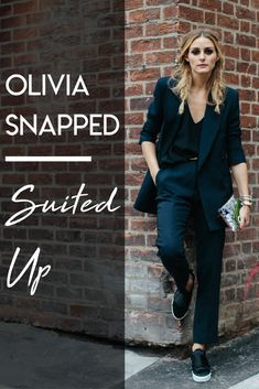Olivia's oversized blazer is a perfect throw over tanks and tees to winterize a wardrobe.