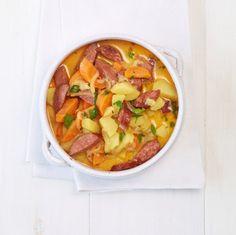 Kartoffelragout mit Cabanossi