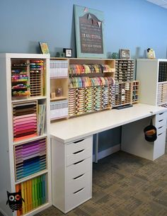 Affordable Diy Craft Room Ideas For Small Spaces. Below are the Diy Craft Room Ideas For Small Spaces. This post about Diy Craft Room Ideas For Small Spaces was posted under the category by our team at August 2019 at am. Hope you enjoy it and . Spring Cleaning Organization, Desk Organization, Organizing Ideas, Stationary Organization, Craft Room Organizing, Thread Organization, Organized Craft Rooms, Organizing Art Supplies, Organized Desk