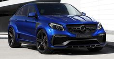 TopCar Dips Inferno-Wearing Mercedes GLE Coupe In Blue #Mercedes #Mercedes_GLE_Coupe