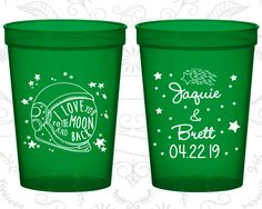 Plastic Cups, Personalized Cups, Wedding Cups, Personalized Plastic Cups, Stadium Cups, Party Cups, Wedding Cup (263)