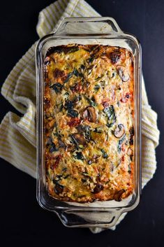 Mushroom, Spinach, and Brown Rice Loaf - Things I Made Today - Main meals - Reis Rezepte Whole Food Recipes, Cooking Recipes, Healthy Recipes, Vegan Brown Rice Recipes, Main Meal Recipes, Plant Based Dinner Recipes, Loaf Recipes, Cheap Recipes, Quiche Recipes