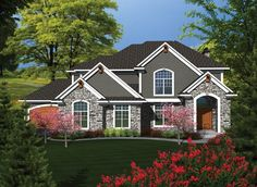 ePlans Traditional House Plan – Sweeping Stairway Sets Tone For This Traditional Home - 3620 Square Feet and 3 Bedrooms from ePlans – House Plan Code HWEPL76544