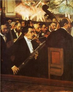 Edgar Degas. The Orchestra at the Opera House. c.1870. Oil on canvas. Musée d'Orsay, Paris, France
