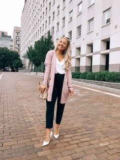 337 best pink cardigan images in 2019 pink cardigan, cast on  30 transitional fall outfits to wear right now pink cardigan sweater, cardigan outfits, denim
