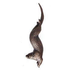 "Otter Solid Brass Door Handle / Pull 11-3/4"" | Finish : Antique Brass | View : Front Elevation Brass Door Handles, Sand Casting, Front Elevation, Otters, Solid Brass, Antique Brass, Hand Carved, Antiques, House"