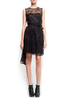 MANGO - SALE - Lace cocktail dress