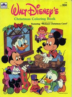 Disney Christmas Coloring Book, Golden Books 1984