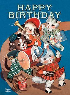 Marching Band Birthday Card Find lots more of the best vintage book illustrations at vintagebookillustrations.com