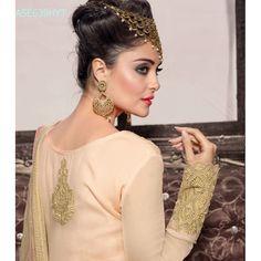 Eid Special Designer Peach Georgette Party Wear Plazzo StyleSalwaar Suit-ASE639HYT ( ARTI-522 )Karishma