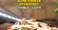 Slow Cooker Overnight Breakfast Casserole is a simple recipe bursting with Italian flavors! A spin on the classic all-America breakfast casserole frees up your morning by letting the crockpot do all the work for you. Simply toss the ingredients in the slow cooker and wake up to a piping hot crowd pleasing breakfast.