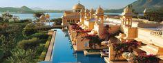 Oberoi Udaivilas #Resort: oberhalb des Lake Pichola gelegen und umgeben von den Aravalli Mountains in der indischen Stadt Udaipur der Proviz Rajasthan.
