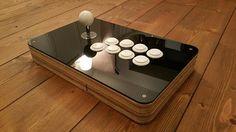Custom Wood Arcade Fight Stick - ArcadeForge